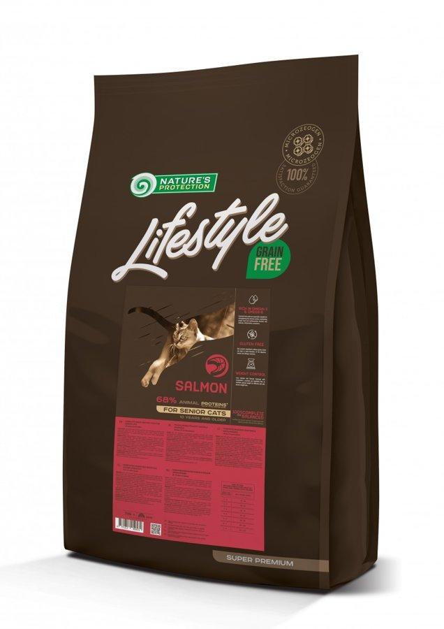 Natures Protection Lifestyle Grain Free Salmon ar lasi un krila eļļu. Pieaugušiem sterilizētiem kaķiem. 1.5 kg