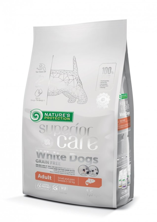Natures Protection Superior care Adult White small dogs