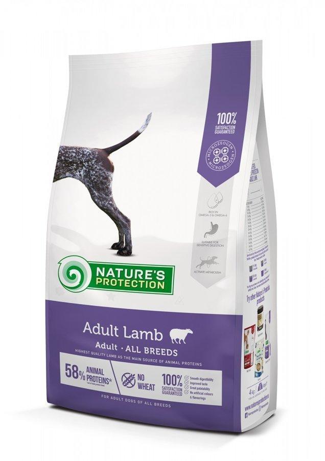 Natures Protection Dog Adult Lamb visu šķirnu pieaugušiem suņiem ar jēru 4Kg